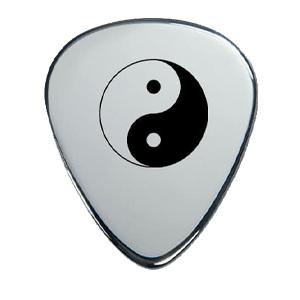 Silbernes Gitarrenplektrum - YinYang