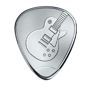 Silbernes Gitarrenplektrum - Les Paul