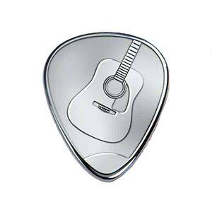 Silbernes Gitarrenplektrum - Akustisch